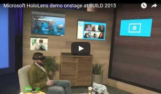 Microsoft HoloLens demo