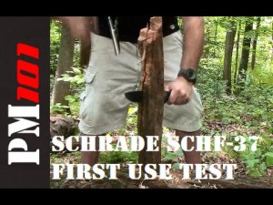 Schrade SCHF-37 Survival Knife Test (2 of 3)