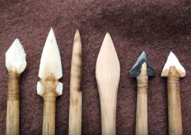 Sharks Teeth, Bone, Wood Arrowpoints
